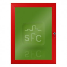 A3 Red Lockable Poster Frame
