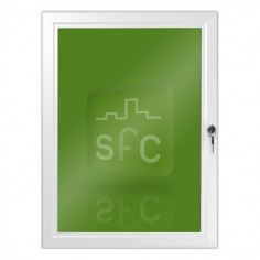 A1 White Lockable Poster Frame