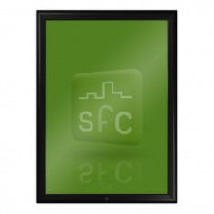 A4 Black Lockable Snap Frame